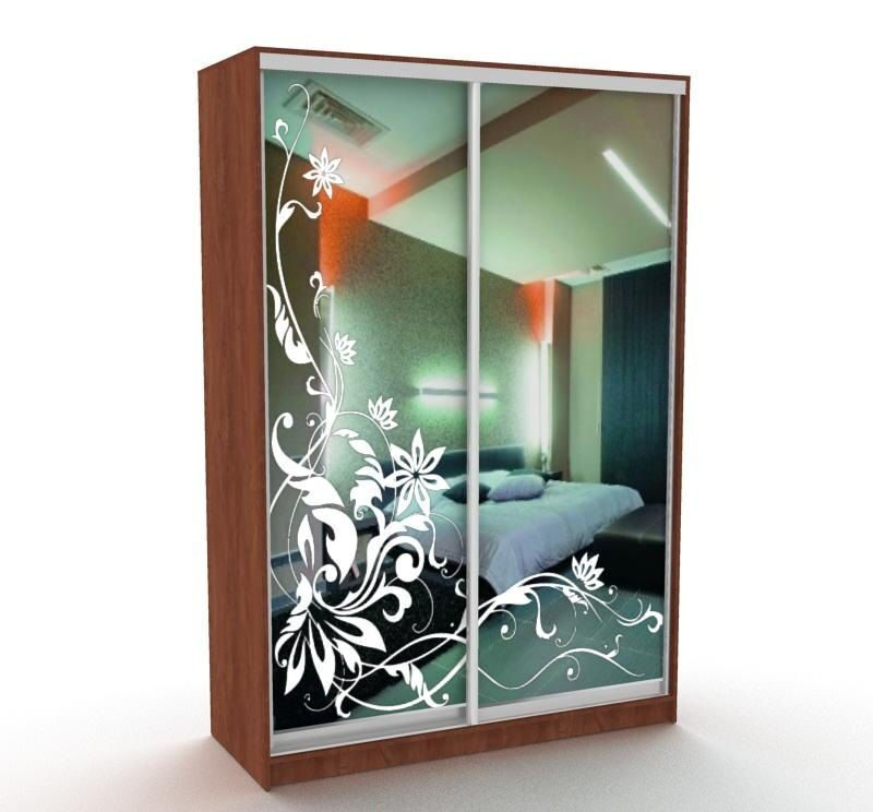 Пескоструйный рисунок на зеркале